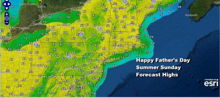 Warm Humid Father's Day Very Warm Weather Continues Next Week