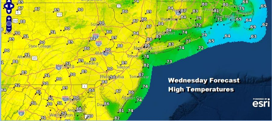 Warmer Air Cold Front Showers Thunderstorms Wednesday Night