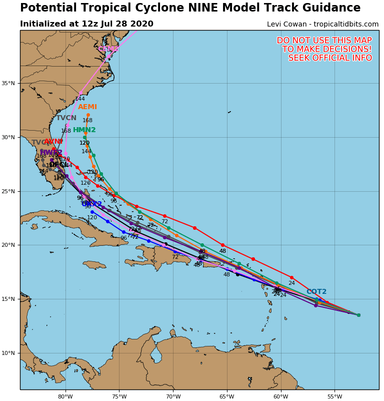 Potential Tropical Cyclone 9 Tropical Storm Warnings Leeward Islands