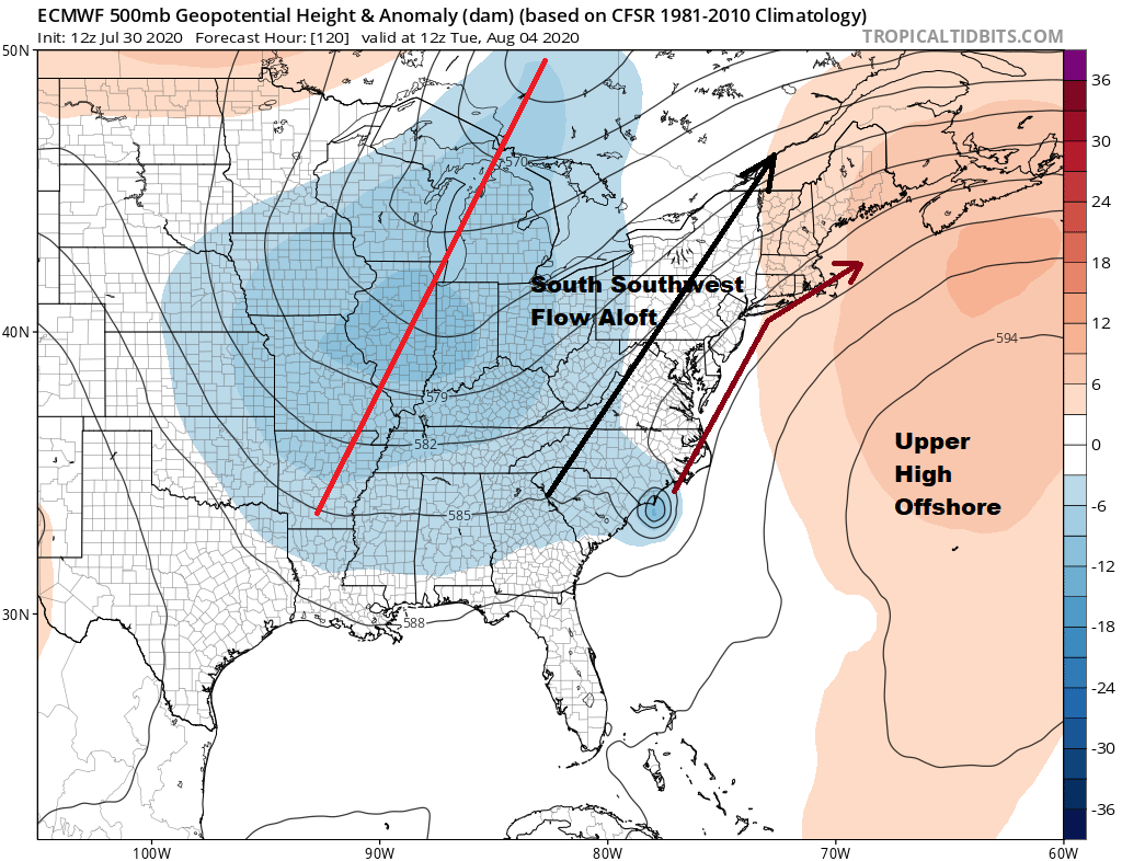 Rain Into Friday Afternoon, Warm Weekend Atmosphere Preps for Isaias Moving Up East Coast
