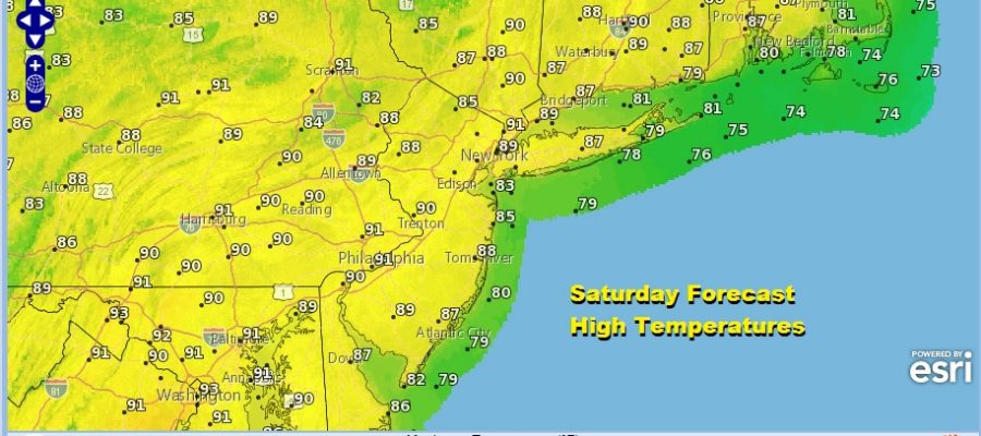 Rain Slides Offshore Hot Weekend Ahead