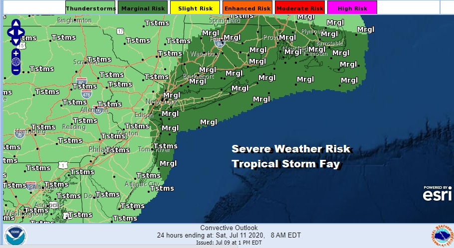 Tropical Storm Warnings Flash Flood Watch Fay Stronger Moving Northward