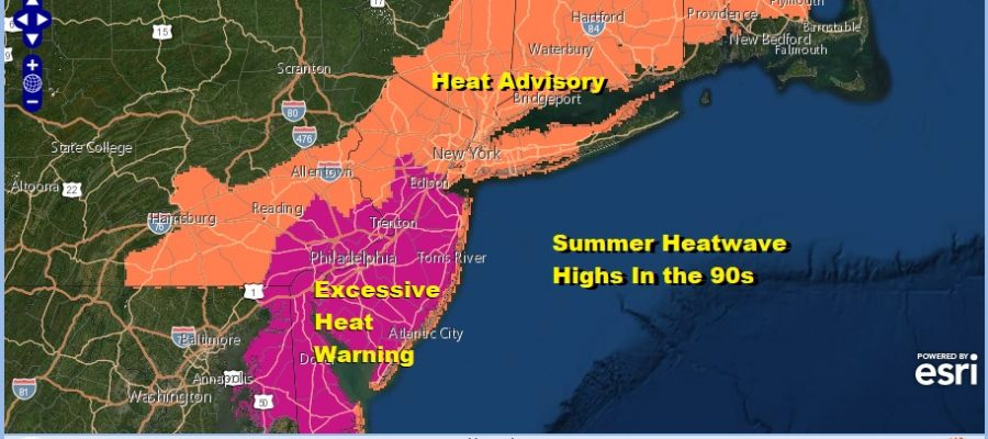 Hot Humid Sunday Monday Heat Advisory Excessive Heat Warning