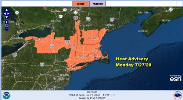 Hot Humid Start To Week But Lower Humidity Coming Late Week