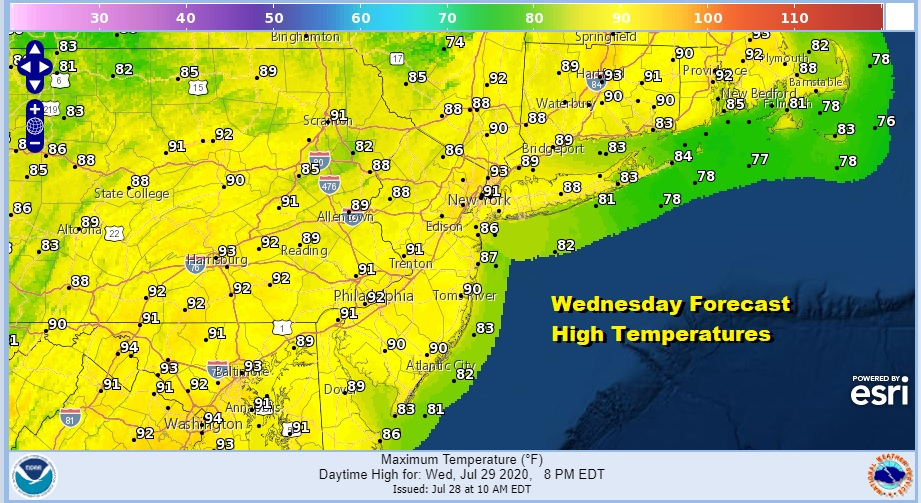 Hot Tuesday But A Shade Less Humid More Changes Late Week